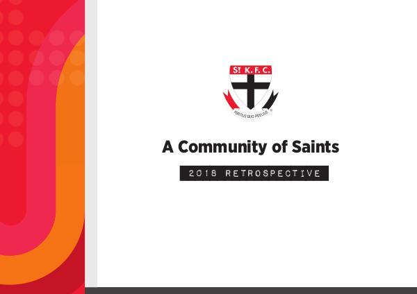 A Community of Saints 2018 Community Perspective 2018