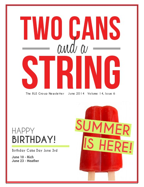 Two Cans and a String June 2014