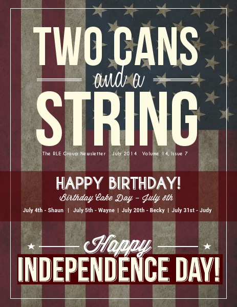 Two Cans and a String July 2014