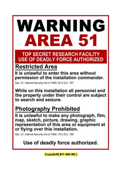- warning Area 51