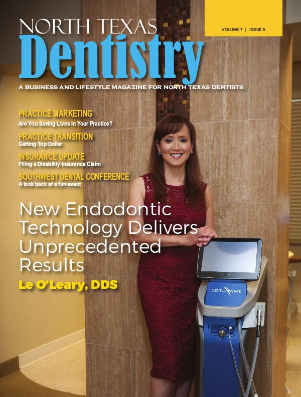 North Texas Dentistry Volume 7 Issue 5 NTD 2017 ISSUE 5 DE