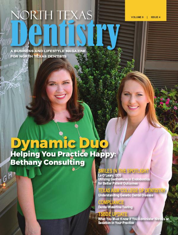 North Texas Dentistry Volume 8 Issue 4 2018 ISSUE 4 DE