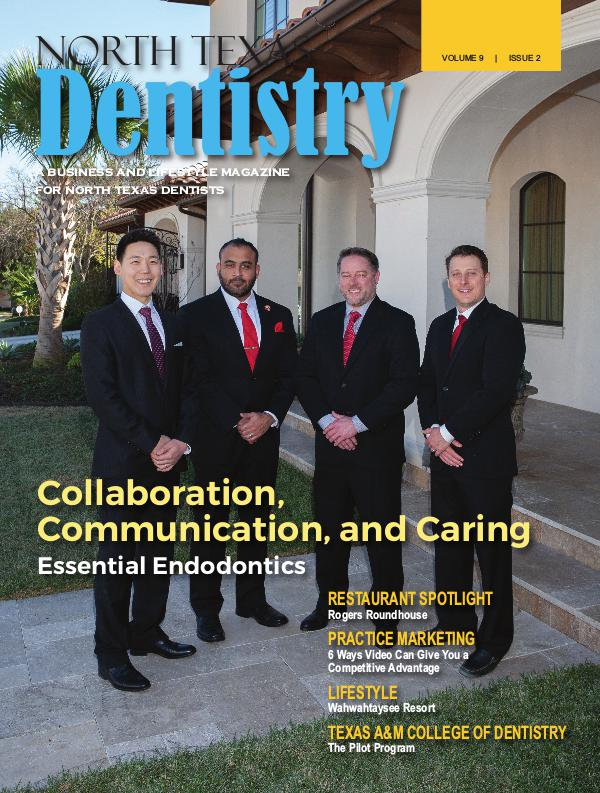 North Texas Dentistry Volume 9 Issue 2 2019 ISSUE 2 DE