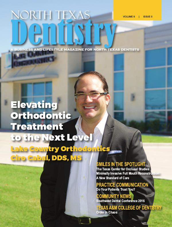 North Texas Dentistry Volume 6 Issue 5 North Texas Dentistry Volume 6 Issue 5