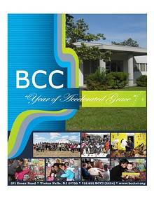 """BCC """"Year of Accelerated Grace"""""""