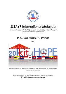 20K Kit of Hope -  ASEAN and Japan Social Contribution Activity (SCA)