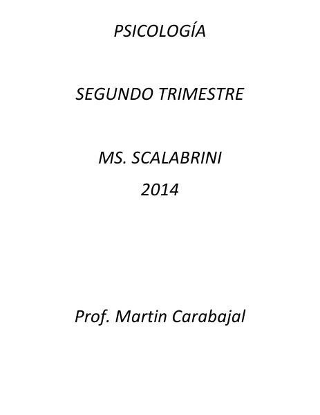 PSICOLOGIA SEGUNDO TRIMESTRE 01-06-2014