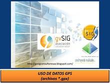Uso del formato (gpx) GPS
