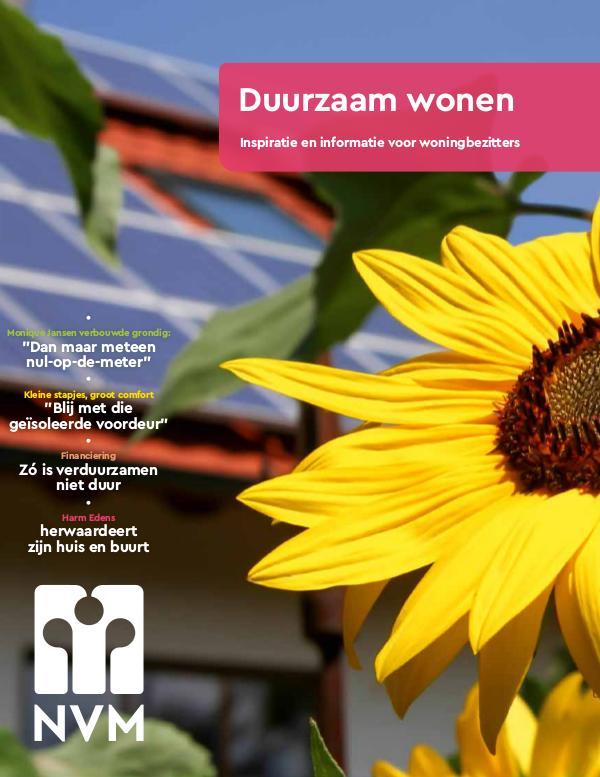 NVM Magazine Duurzaam wonen/Beeuwkes