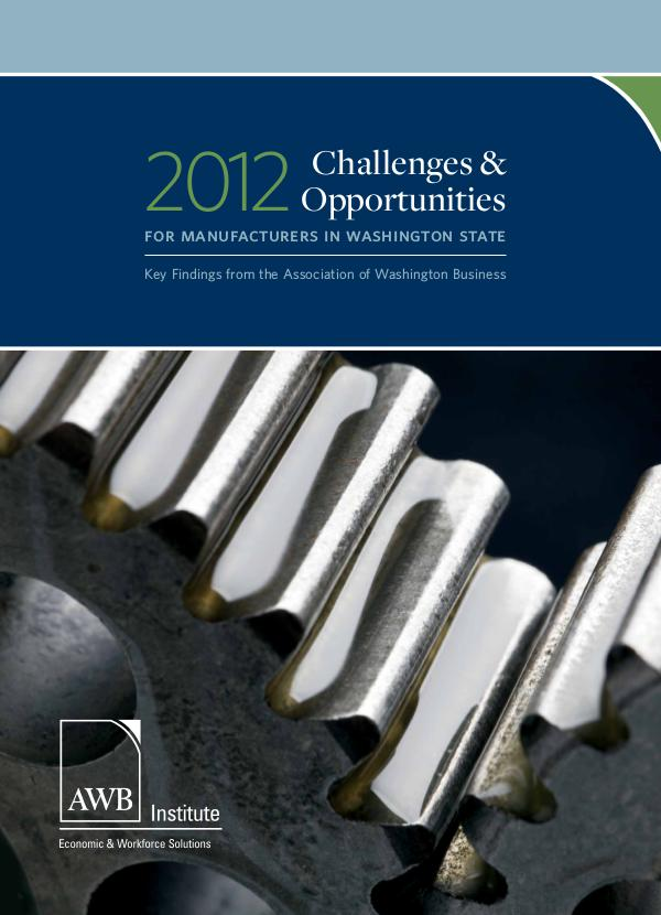 Manufacturing 2012 Manufacturing Report