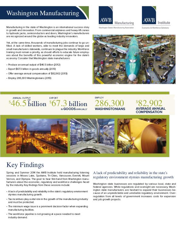 Manufacturing 2014 Manufacturing Report