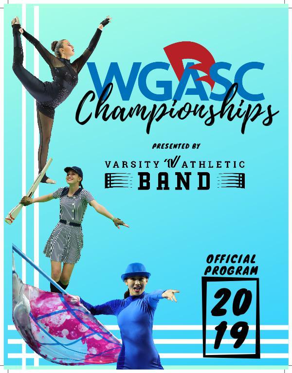 2019 Championship Program 2019 WGASC Championships Final