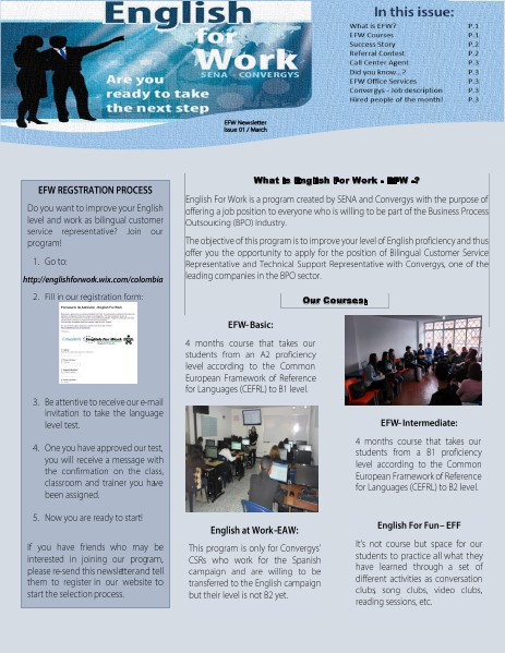 English for work newsletter march 2014