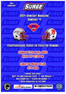 Staffordshire Surge Gameday Digital Magazine