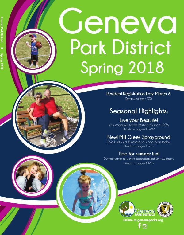 Geneva Park District Spring 2018 Program Guide Spring2018_Brochure