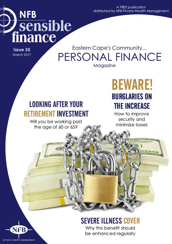 NFB Sensible Finance Magazine Issue 35 NFB Sensible Finance Magazine Issue 35
