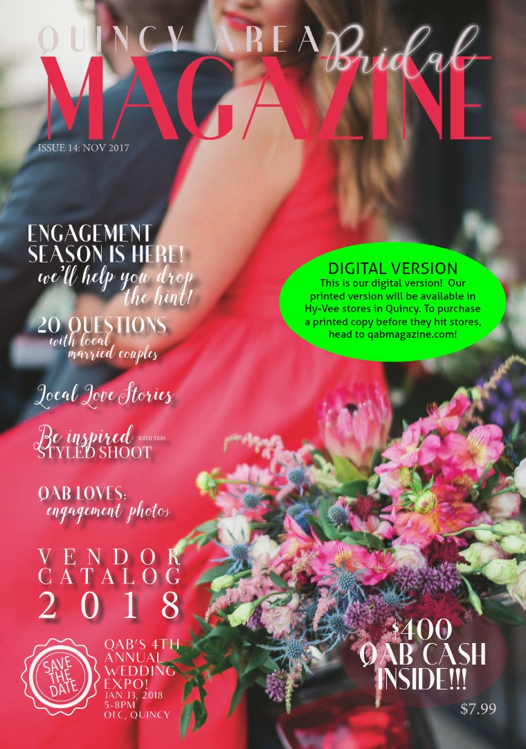 Quincy Area Bridal Magazine November 2017 Issue 14