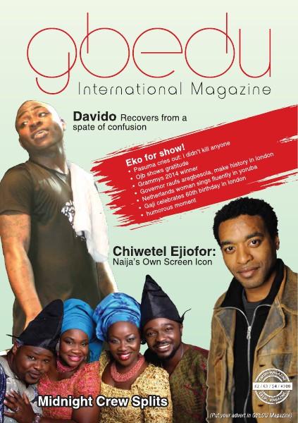 Gbedu International Magazine March 2014 Edition Mar. 2014