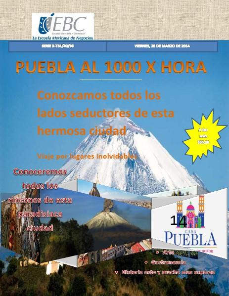 Puebla al 1000 X Hora Jun. 2014