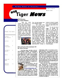 HSD Tiger News 2nd Edition