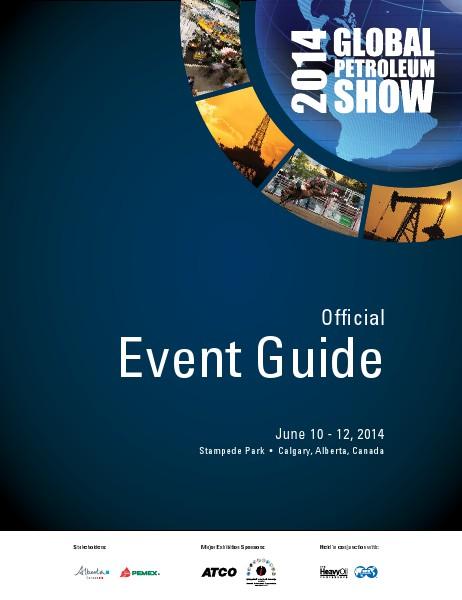 Global Petroleum Show - Event Guide Event Guide