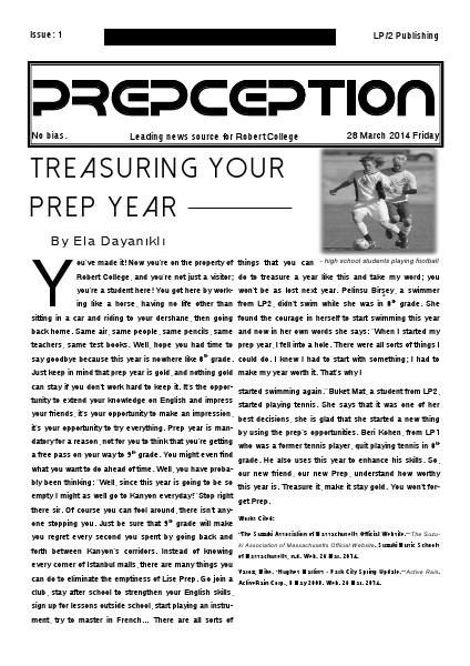 Prepception March 2014