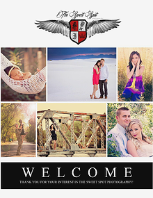 The Sweet Spot Photography Welcome Packet