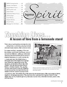 Ingomar Spirit Newsletter