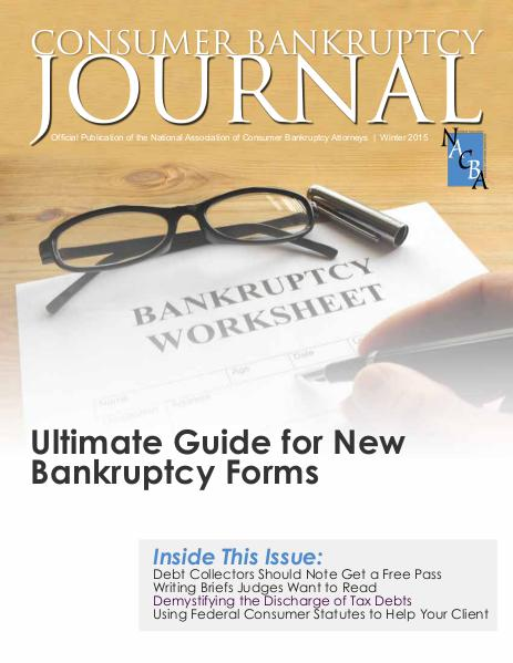 Consumer Bankruptcy Journal Fall 2015