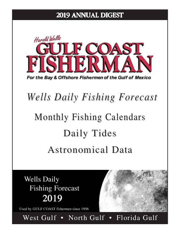 2019 WELLS DAILY FISHING FORECAST