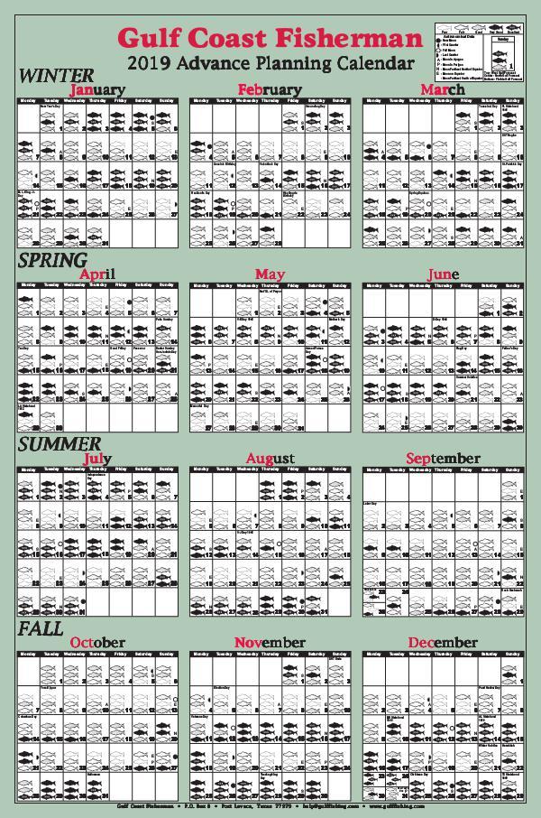 Gulf Coast Fisherman Magazine 2019 Advance Calendar