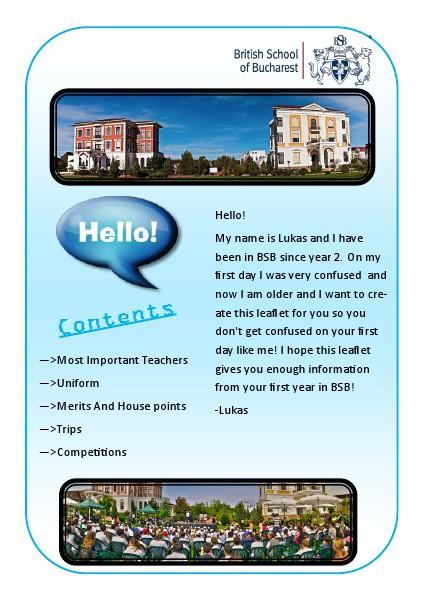BSB leaflet BSB leaflet