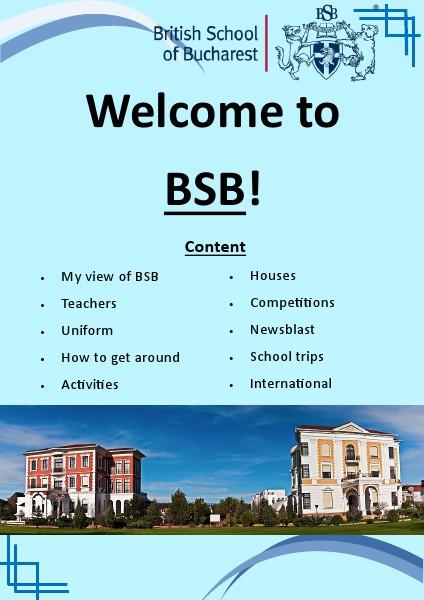 British School Bucharest Apr. 2014 British School Bucharest
