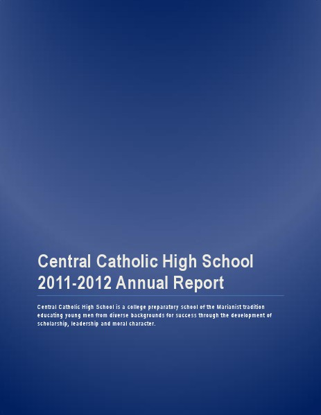 Central Catholic Annual Report 2011-2012
