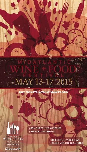 MidAtlantic Wine + Food Festival 2015 MAWFF Invitation