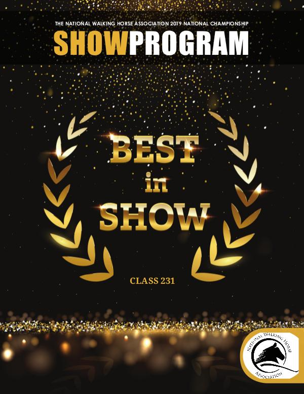 NWHA National News 2019 NWHA National Championship Show Program