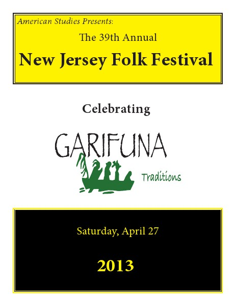 New Jersey Folk Festival Program Book 2013 Apr. 2013