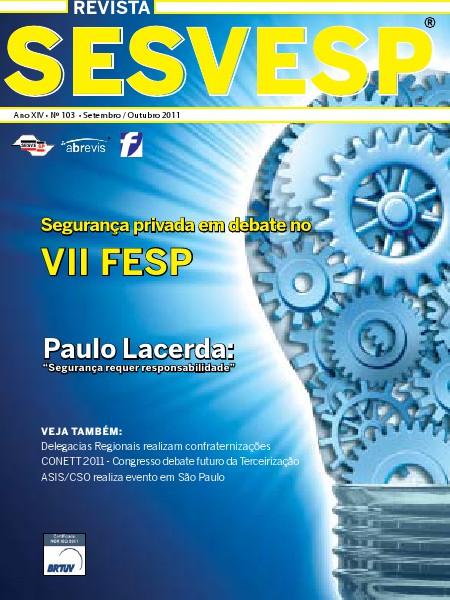 Revista Sesvesp Ed. 103 - Setembro / Outubro 2011