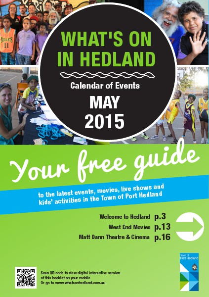 Monthly Events Calendar May 2015