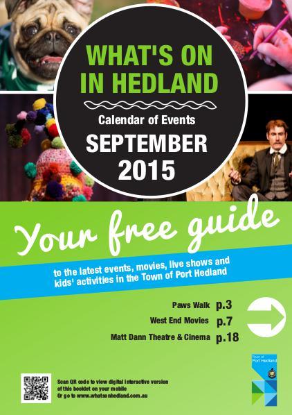 Monthly Events Calendar September 2015