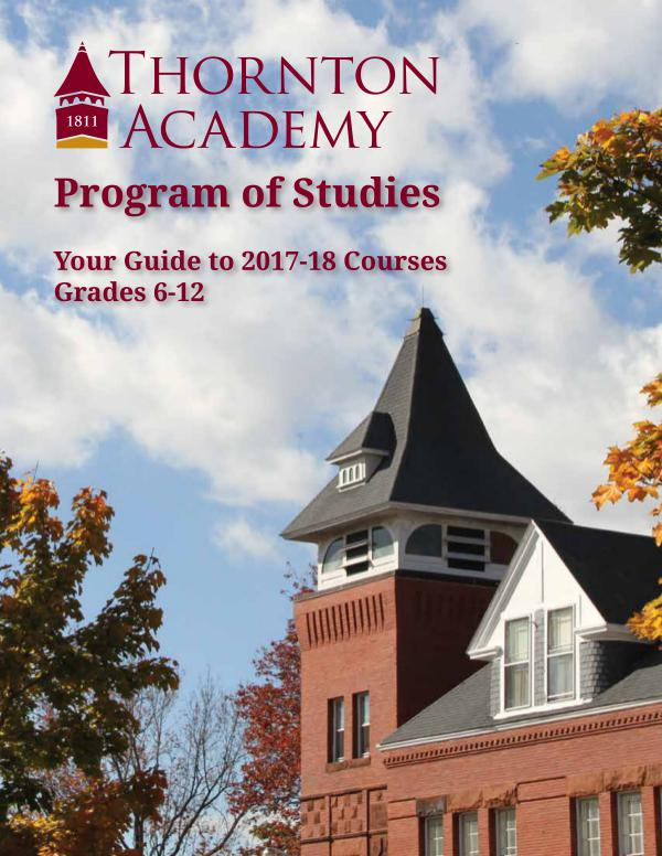 Program of Studies Program of Studies 2017-2018