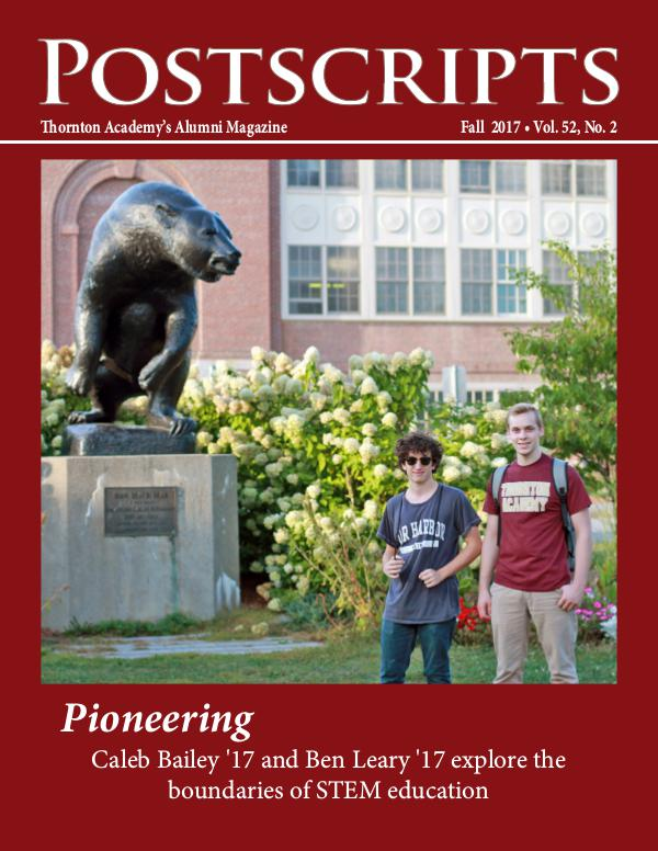 Thornton Academy Postscripts Alumni Magazine Fall 2017