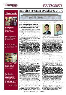 Thornton Academy Postscripts Alumni Magazine