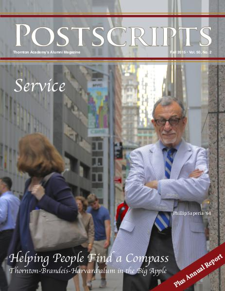 Thornton Academy Postscripts Alumni Magazine Fall 2015