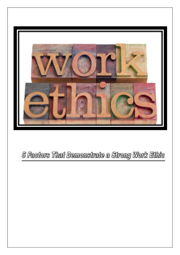 Work Ethics 1