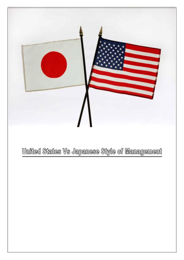 Management Styles of US & Japan 1