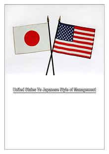 Management Styles of US & Japan