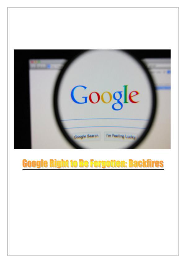 Lawsuit Against Google 1