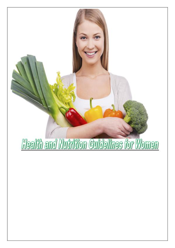 Some Tips For Women's Healthy Diet 1