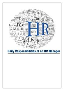 HR Manager's Roles and Responsibilities